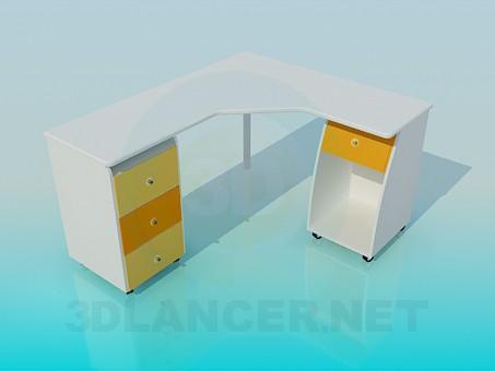 modelo 3D Mesa de la computadora - escuchar