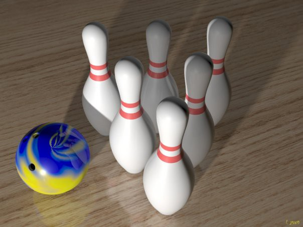 3d modeling Set to play bowling model free download