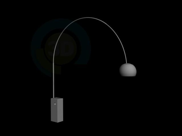 3d модель Лампа напольная хай-тек – превью