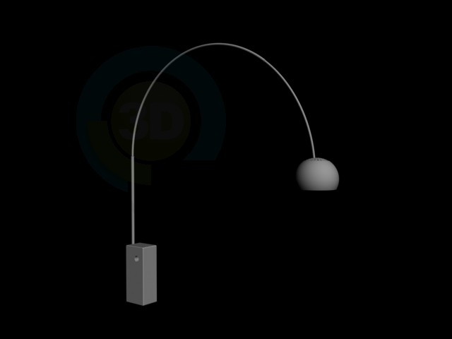 descarga gratuita de 3D modelado modelo Lámpara de pie de alta tecnología