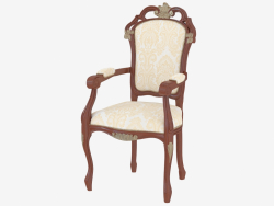 Dining chair with armrests La Serenissima