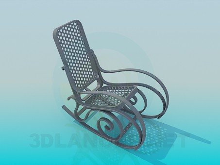 3d modeling Rocking chair model free download