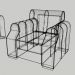 3d Soft sofa corner and armchair PREVIEWNUM#