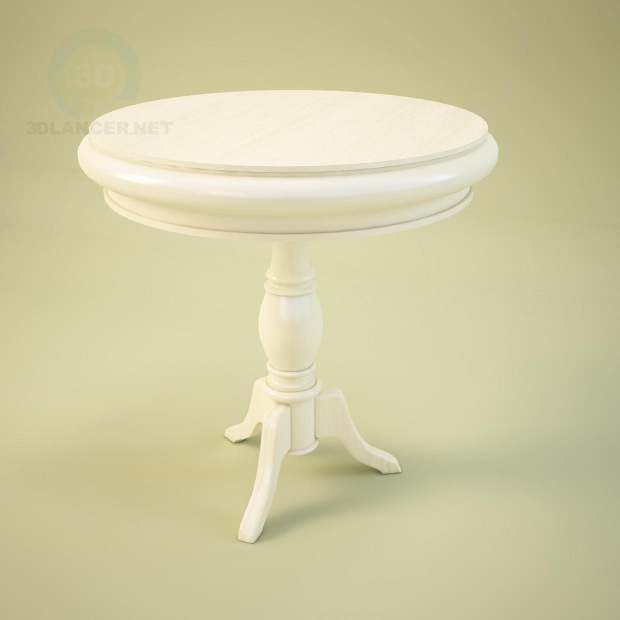 3d model round table in the style of classicism id 9781 for Table 3d model
