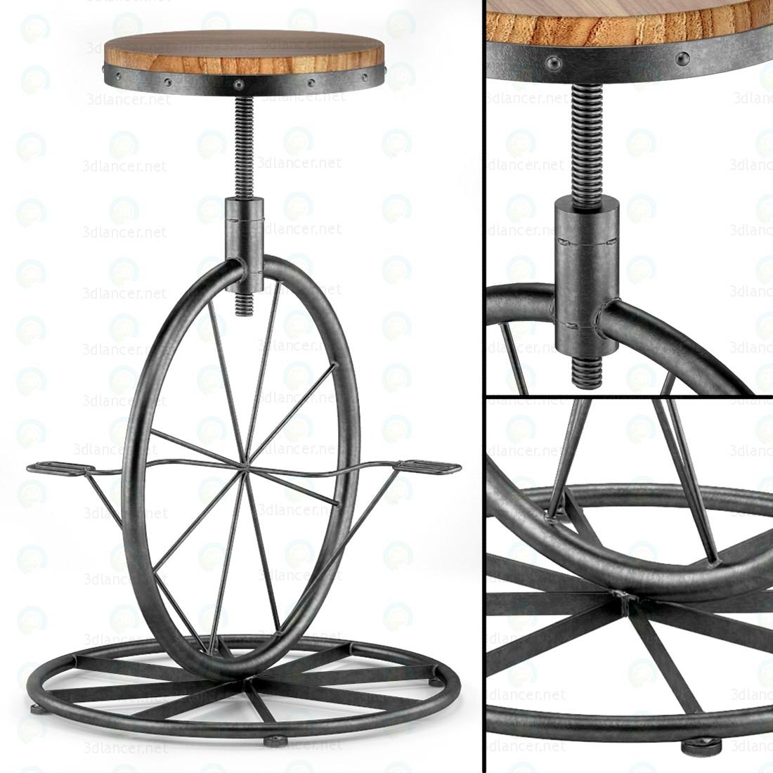 3d Велосипедное колесо - Барный стул модель купить - ракурс