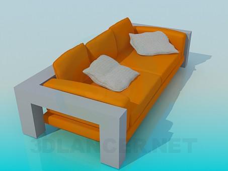 descarga gratuita de 3D modelado modelo Sofá de estilo high-tech
