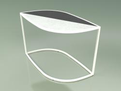 Side table 001 (Glazed Gres Ice-Storm, Metal Milk)