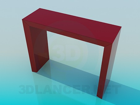 3d modeling The narrow high table model free download