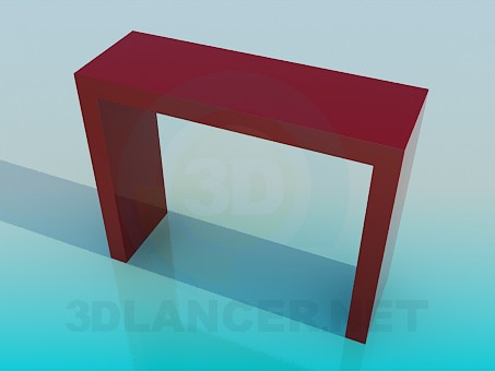 modelo 3D La mesa alta - escuchar