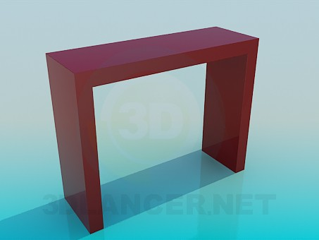 3d model The narrow high table - preview