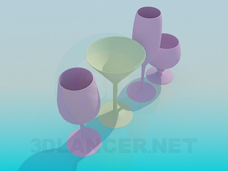3d model Glasses - preview
