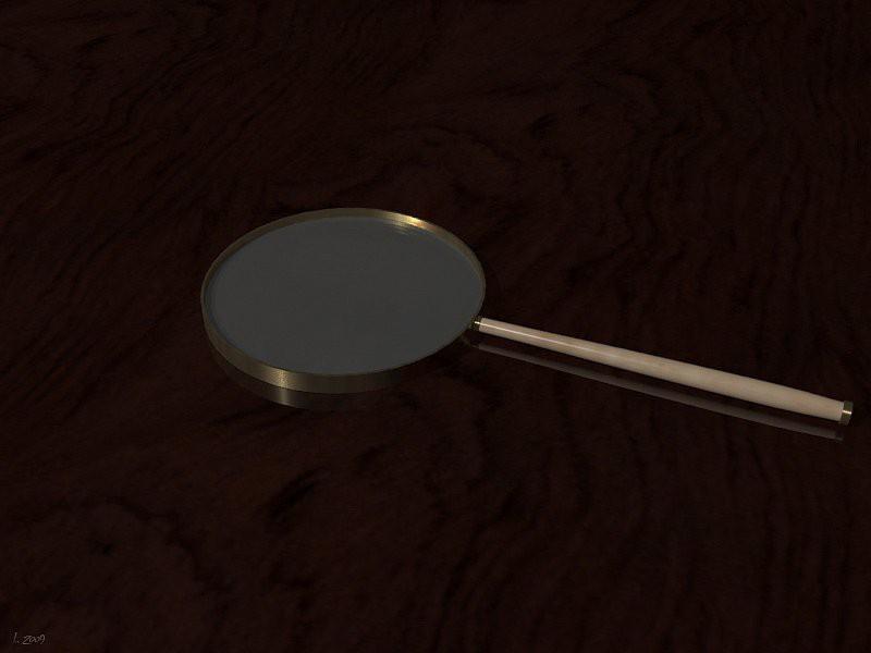 Modelo 3d Lente de aumento - preview