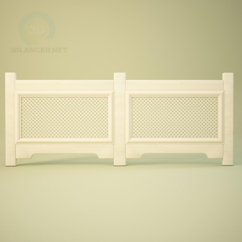 modelo 3D Rejilla de radiador - escuchar