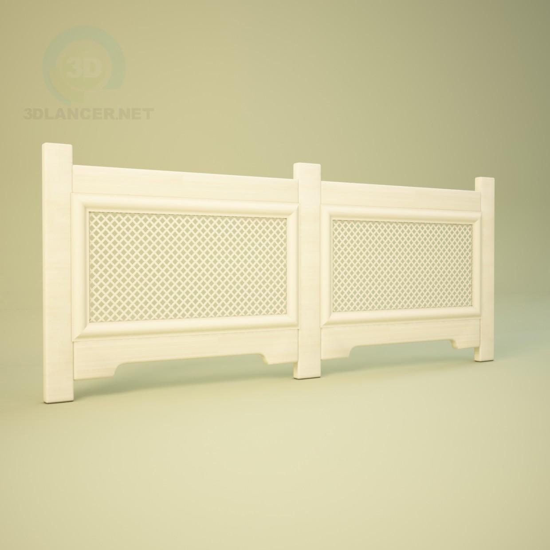 3d модель Радиаторная решетка – превью