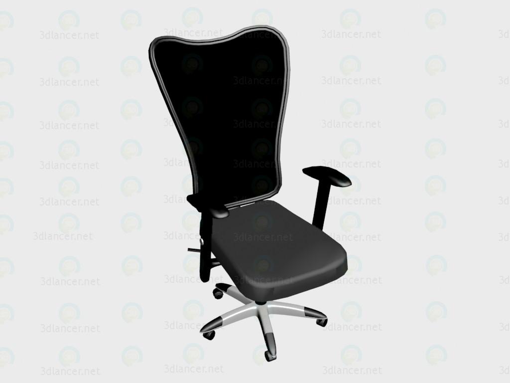 3d модель Кресло Manolo (черное) – превью
