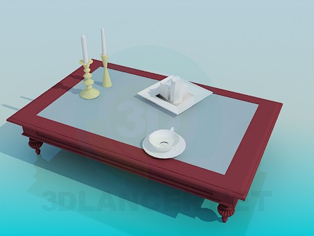 3d model Table High Poly - preview