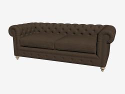 सोफा-बेड डबल 90 '' क्लब सोफा (अंधेरा)