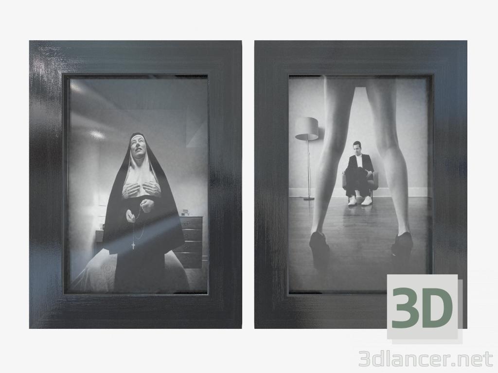 3d modell zwei wandmontierte bilderrahmen nitya 14 19 60167493 vom hersteller ikea id 24783. Black Bedroom Furniture Sets. Home Design Ideas