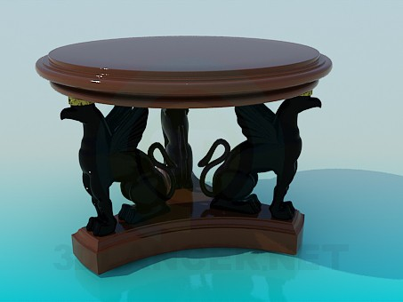 3d modeling Coffee table with griffins model free download