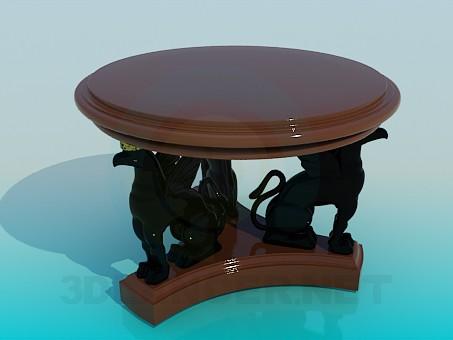3d модель Журнальный стол с грифонами – превью
