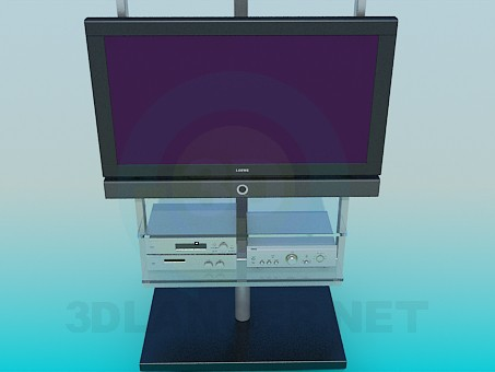 3d model TV with a tuner - preview