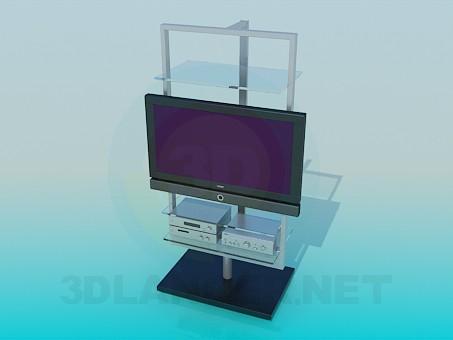 modelo 3D TV con un sintonizador - escuchar
