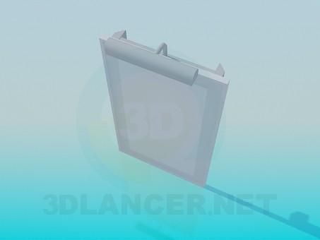 3d модель Дзеркало з підсвічуванням – превью