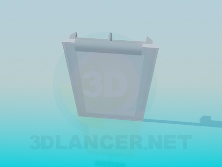 3d model Mirror with illumination - preview