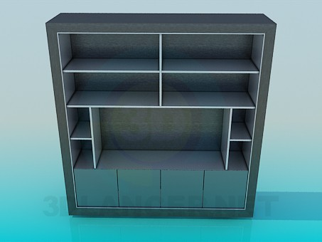 3d model Closet with shelves for TV - preview