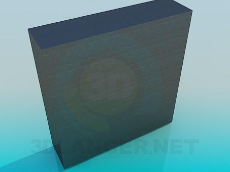 3d модель Шафа з полками під ТВ – превью