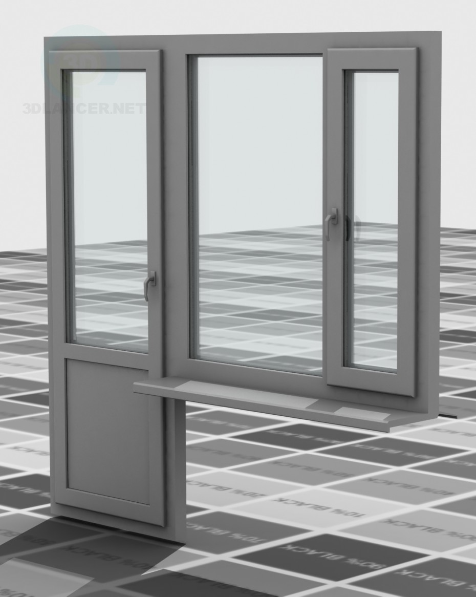 3d model PVC windows - preview