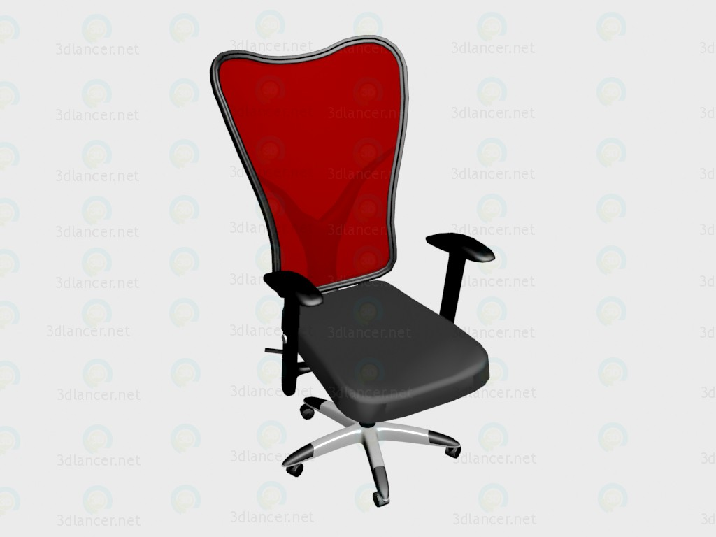 3d model Armchair Manolo (red) VOX - preview