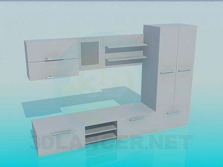 3D modeli Сabinet yüksek Poly - önizleme