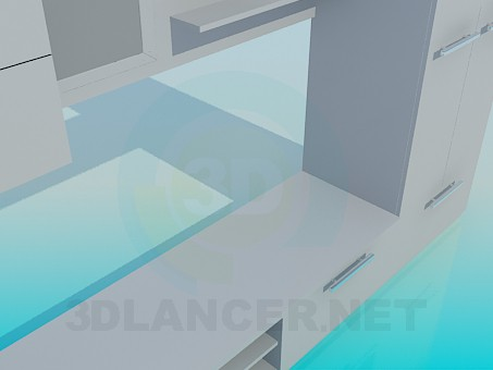 modelo 3D Polietileno alta Сabinet - escuchar