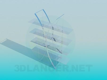 3d модель Этажерка – превью