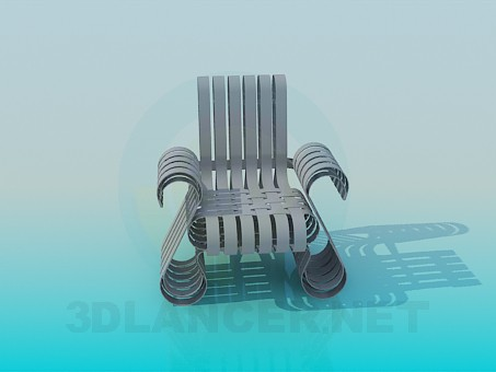 3d modeling Armchair with spines model free download