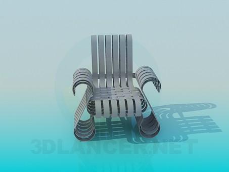 3d модель Крісло з палітурками – превью