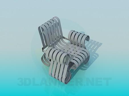 3d модель Кресло с переплетами – превью