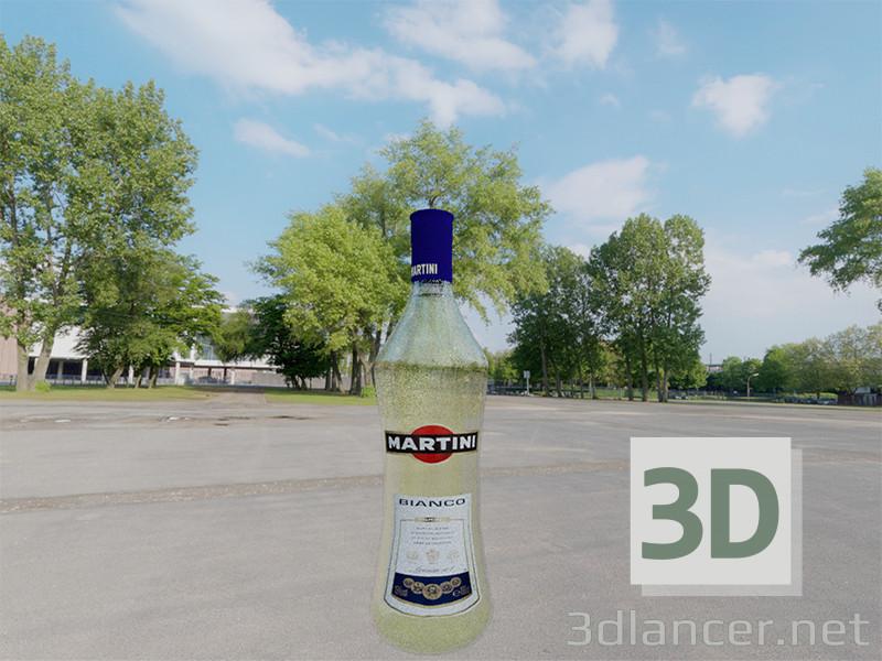 3d modeling Martini Bottle model free download