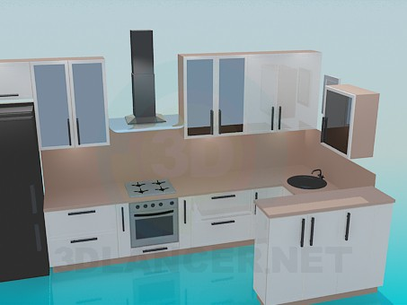3d model Kitchen, complete set - preview
