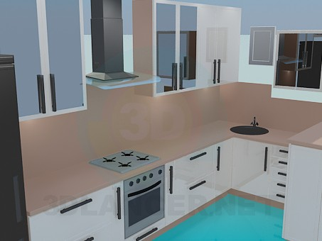 3d model Kitchen, complete set - preview