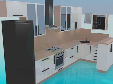 modelo 3D Cocina, sistema completo - escuchar