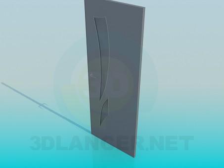 3d модель Дверь межкомнатная – превью