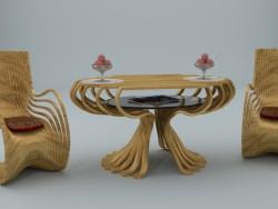 Kahve masa ve sandalyeler