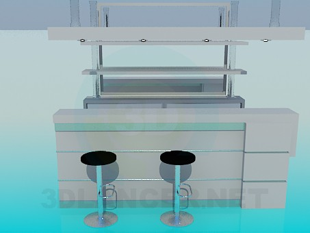 3d modeling Bar Counter model free download