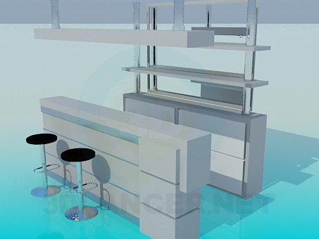 3d model Bar Counter - preview