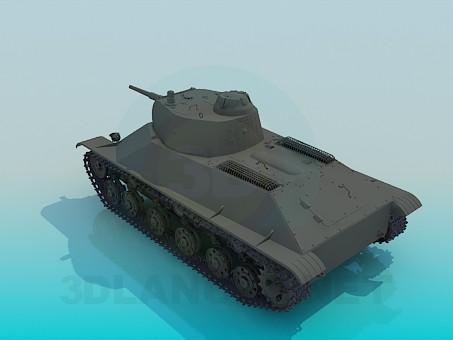 modelo 3D Tanque T50 - escuchar
