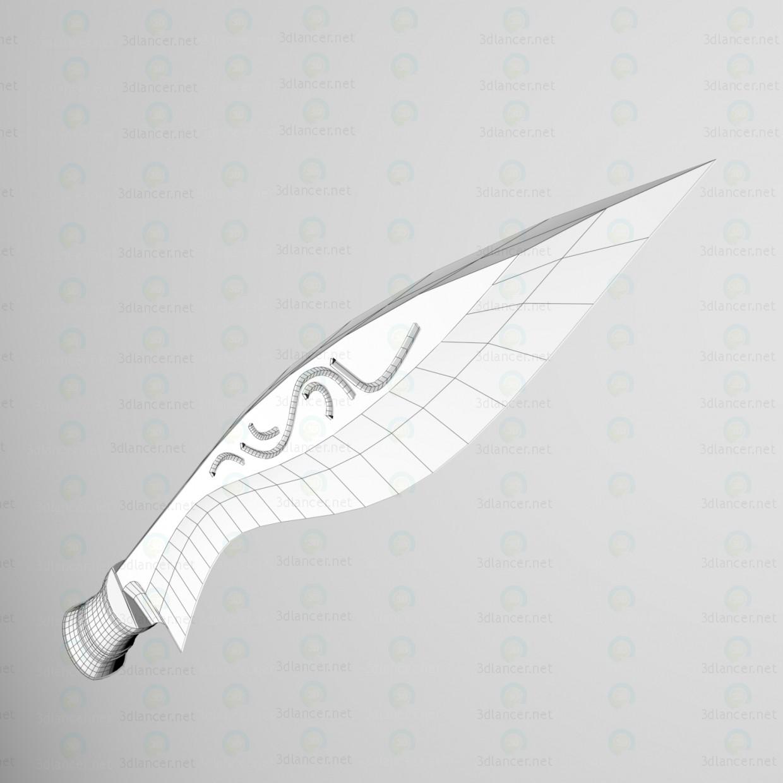 "Kukri-Katrimoras ""Ala de halcón"" 3D modelo Compro - render"