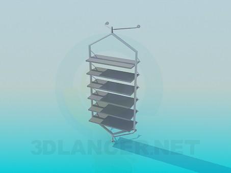 3d модель Етажерка фиксируемая до стіни – превью