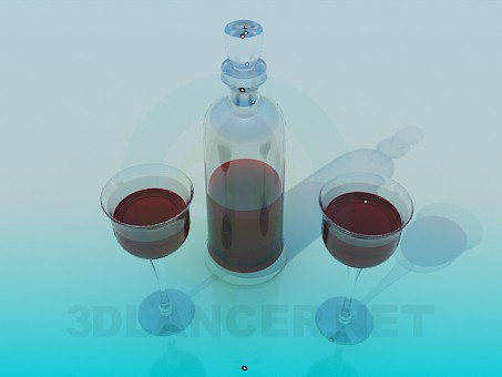 3d model Carafe wine - preview